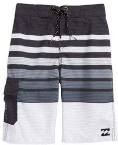 73ae69827b Billabong All Day OG Stripe Board Shorts Swimming Outfit, Billabong,  Toddler Boys, Swim