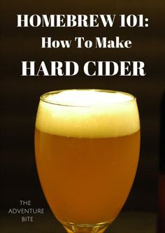 How To Make Hard Apple Cider. Tutorial and recipe for how to brew your first home brew apple cider! Great home brewing series! Brewing Recipes, Homebrew Recipes, Beer Recipes, Coffee Recipes, How To Make Beer, Food To Make, Hard Cider Recipe, Apple Beer Recipe, Apple Recipes