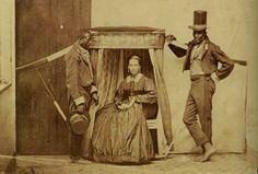 Senhora Escravos being carried by her slaves, São Paulo, Brazil, ca. 1860