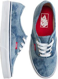 In my style by erraticsunshine : vans vans vans vans! Vans Authentiques, Denim Vans, Converse, Vans Sneakers, Vans Shoes, Vans Footwear, Denim Shoes, Denim Outfit, Flat Shoes