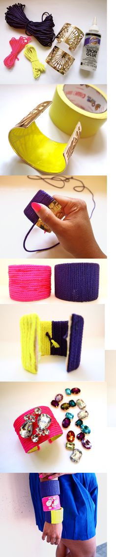 Do It Yourself: Neon Rope Cuff - 12 Fashionable DIY Ideas