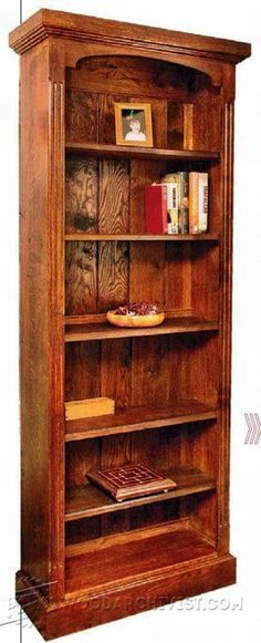 Tall Bookcase Plans - Furniture Plans and Projects   WoodArchivist.com