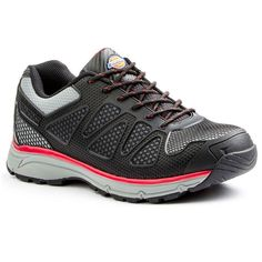 Dickies Fury EXO-Lite Men's Steel-Toe Work Shoes, Size: medium (10.5), Black