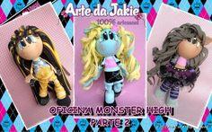 Oficina Virtual Monster High parte 2 Em blog restrito. - Vídeo aulas - Moldes -Listas de materiais R$ 75,00