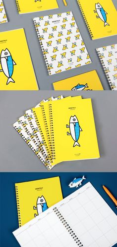 The Mackerel Spiral Monthly Planner is a perfect for you if you are looking for a monthly planner that is practical inside and super eye-catching outside!
