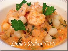 Gnocchetti with Shrimp Sauce http://www.lindasitaliantable.com/gnocchetti-with-shrimp-sauce/