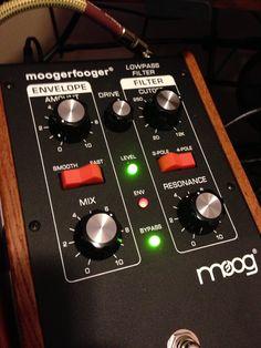 Moog low pass moogerfooger in studio 13
