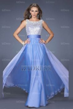 A-Line/Princess Bateau Chiffon Prom Dress - IZIDRESSES.COM at IZIDRESS.co.uk