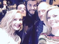 #Squad selfie from last night. Can't believe we started this journey together five years ago! D'aww, look at those smiles… #MockingjayUS