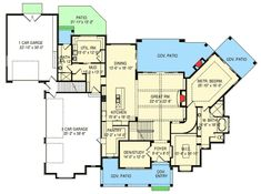 Plan 290008IY: Luxurious 6 Bed House Plan With 3 Levels Of Living