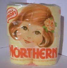 Vintage ~~NORTHERN Pastel Yellow BATHROOM TOILET TISSUE~ STROFT~ 4 Rolls 1977