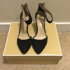 BCBG Heels Well loved, black BCBG heels. A classic addition for any wardrobe. Please look at the picture of the show bottoms, to see damage of the heel. Small scrapes on the inside of the toe area. BCBGeneration Shoes Heels
