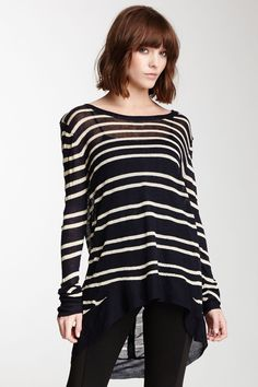Metallic Stripe Knit Top