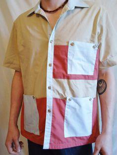 True 70's Vintage Short Sleeve Men's Fashion Button by POPWILDLIFE, $36.00