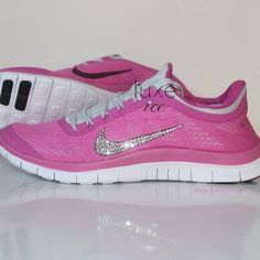 buy popular ccf3d 23c32 NIKE run free 3.0 V5 running shoes w Swarovski Crystals by luxeice Bling Nike  Shoes