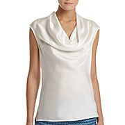 MNG by Mango® Cowl-Neck Blouse