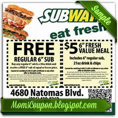 Subway promo February 2015