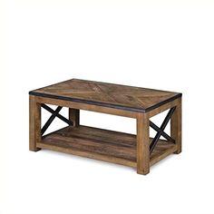Magnussen T2386-43 Penderton Wood Rectangular Cocktail Table, Small