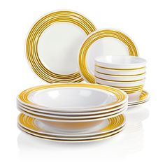 Corelle for Joy Mangano  Strokes of Color  @ HSN.com #corelledining #  sc 1 st  Pinterest & Corelle Square Dinnerware Sets Clearance | CORELLE Twilight Grove 16 ...
