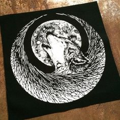 Wolf Crescent Back Patch