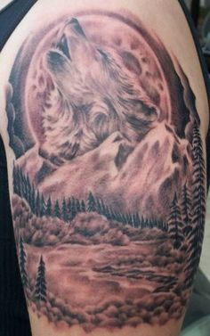 best wolf tattoos | ... home tattoo designs and pictures creatures wolf tattoos previous image