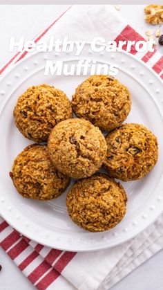 Healthy Carrot Muffins, Healthy Muffin Recipes, Healthy Snacks, Oatmeal Muffins, Quick Bread, Cup Cakes, Scones, Baked Goods, Free Recipes