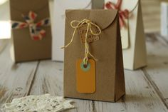 Plain Recycled KRAFT Brown taper top box blanks DIY wedding favour box on Etsy, $3.35 AUD