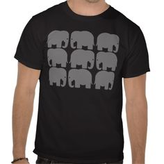 Gray Elephants Silhouette Shirts $24.80
