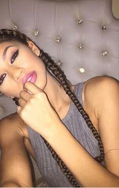 Image de zendaya, makeup, and braid