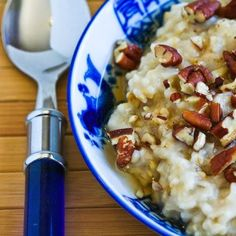 Steel-Cut Oats in the Crockpot and Steel-Cut Oats with Agave and Pecans; easy #SlowCooker breakfast.  [from KalynsKitchen.com]