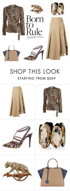 """Leopard"" by hanne-xiii ❤ liked on Polyvore featuring 3.1 Phillip Lim, Ganni, Valentino, Viktoria Hayman, David Webb and Fendi"