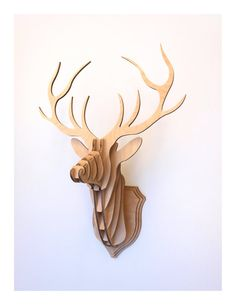 Deer Head Stag Trophy Medium by CliveRoddy on Etsy, $95.00 Really love this x