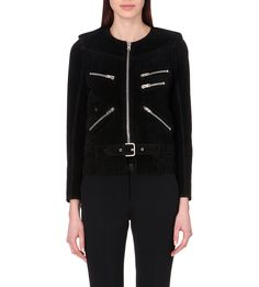 THE KOOPLES - Fringed suede jacket | Selfridges.com