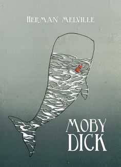 Herman Melville's Moby Dick Book Cover Design, Book Design, Ex Libris, White Whale, Whale Art, Poster Design Inspiration, Blue Pictures, Poster Pictures, Book Lovers Gifts