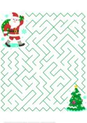 Christmas Maze Puzzle with Santa Puzzle game