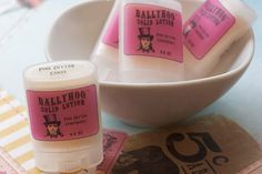 Pink Cotton Candy Lotion Stick for dry skin smells by BallyhooBath, $4.00