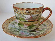 Old Kutani cup and saucer