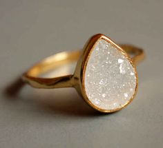 White Agate Druzy Ring, $53 | 27 Pieces Of Jewelry That Look More Expensive Than They Are