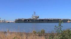 USS Ronald Reagan's departure to close part of Brisbane River