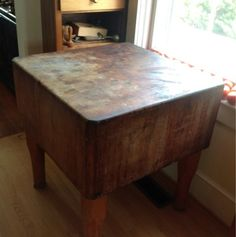 Solid Antique Butcher Block on eBay!