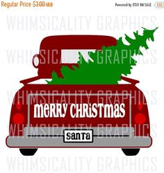 This product is a compressed zip of digital files (SVG, DXF, PNG) of our Santas Antique Truck With Christmas Tree graphic. This zip file is for COMMERCIAL and PERSONAL USE. If you would like it only for personal use, please request a CUSTOM ORDER. The personal use only file is always $2 less than the commercial price. This zip folder includes a color version for print and cut. INCLUDED: 1 SVG File 1 DXF File 1 EPS File 1 PNG File - Trace 1 PNG File - Transparent This is an INSTANT…