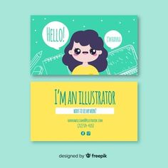 Discover thousands of free-copyright vectors on Freepik Cute Business Cards, Small Business Quotes, Free Business Card Templates, Business Card Design, Marca Personal, Personal Branding, Identity Branding, Visual Identity, Name Card Design