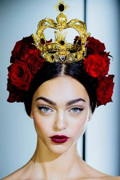 Dolce & Gabbana SS 15 Photo by Kevin Tachman | #GirlYouAreRoyalty! #HECrownedYouRighteous <3 <3 <3
