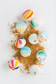 DIY beach macarons | sugar & cloth