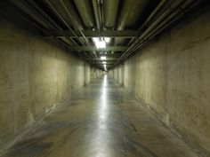 Explore the Creepy Underground Pedestrian Tunnels of Downtown L.A.  This network of concrete passageways has an eerie past.