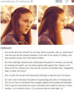 I don't understand why people don't like Sansa Stark