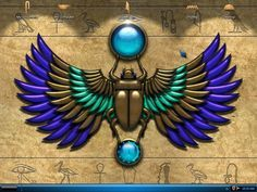 egyptian winged scarab tattoo - Google Search