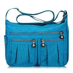 Jinqiaoer Women Casual Waterproof Nylon Multi-Pocket Shoulder Bag Crossbody Bag is Worth Buying - NewChic Mobile.