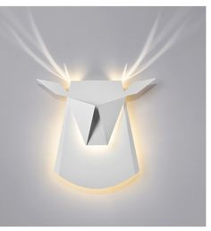 The Popup Lighting Gold deer head is a decorative lamp, painted folded Aluminium and steel. When lights are on it becomes of light and brilliancy. Wall Mount Light Fixture, Bedroom Light Fixtures, Modern Light Fixtures, Bedroom Lighting, Shop Lighting, Modern Lighting, Wall Lighting, White Deer Heads, Light Shoot