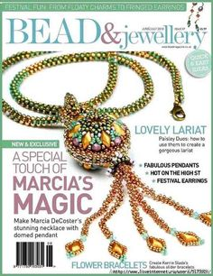 Bead & Jewellery Magazine is the UK's favourite magazine for beading and jewellery making! Diy Jewelry Necklace, Bead Jewellery, Beaded Necklaces, Necklace Ideas, Beaded Jewelry Patterns, Beading Patterns, Magazine Beads, Beaded Spiders, French Beaded Flowers